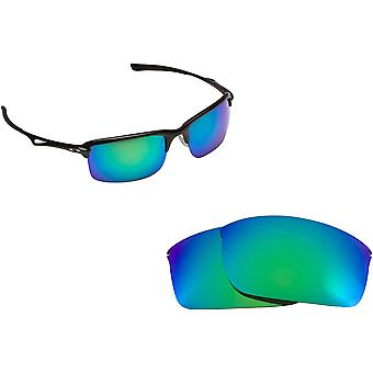 Best SEEK Polarized Replacement Lenses for Oakley WIRETAP Green Mirror