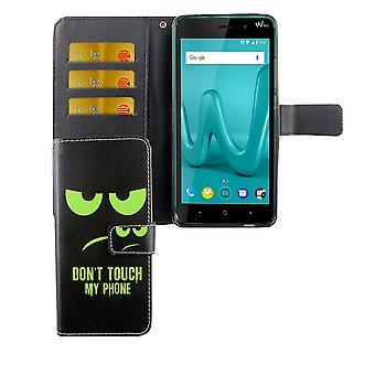 Mobile phone case pouch for mobile WIKO Lenny 4 plus dont touch my phone Green