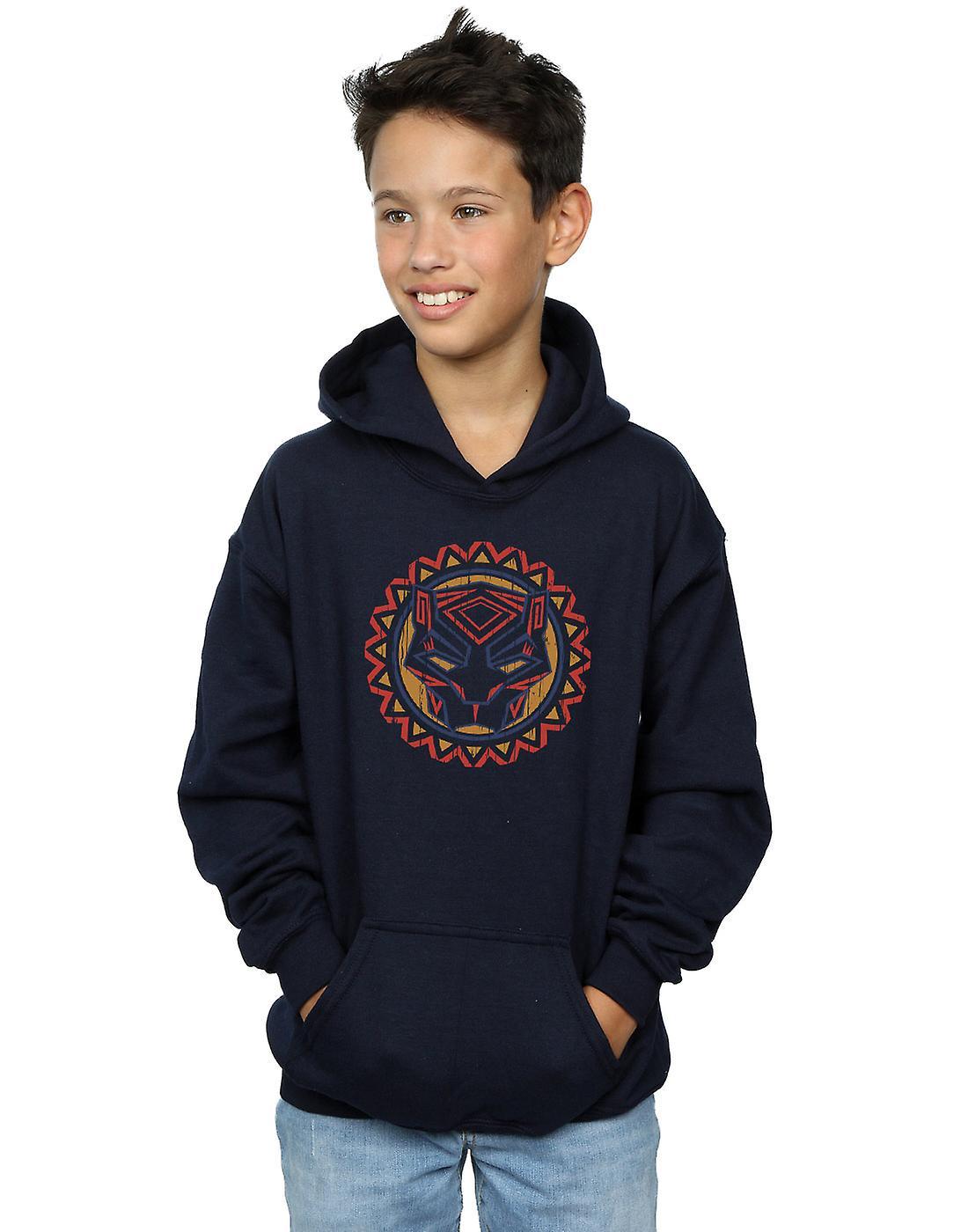 Merveille garçons noir Panther Tribal Panther icône Hoodie