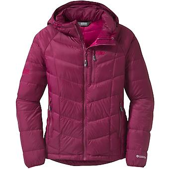 Outdoor Research Womens Sonata Hooded Down Jacket Water-Resistant Lightweight