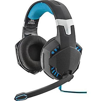 Gaming headset USB Corded Trust GXT 363 7.1 Bass Vibration Over-the-ear Black, Blue