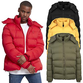 Urban classics - HOODED BOXY buffer quilted winter jacket