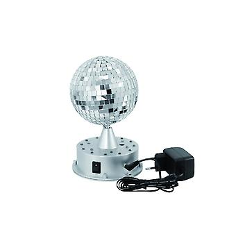 Mirror ball 13 cm with LED base