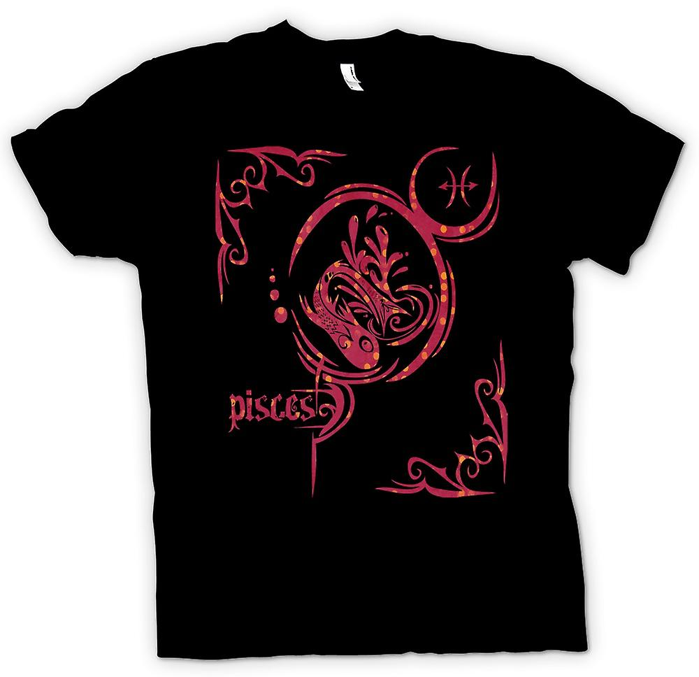 Mens T-shirt - Pisces Zodiac Star Sign