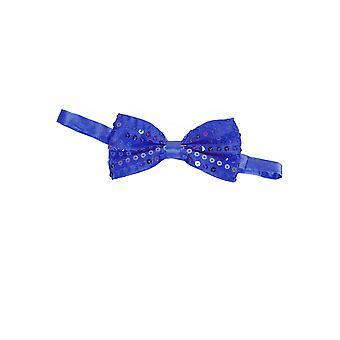 Bågar och band män Bow tie glitter blå