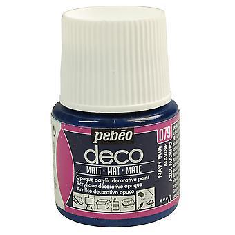 Pebeo Deco Water-Based Matt Colours 45ml (079 Navy Blue)