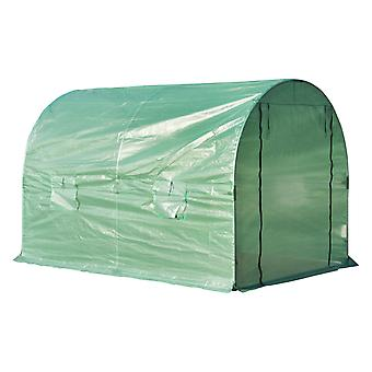 Outsunny Steel Steel Greenhouse Polytunnel Outdoor Walk-in Shed Grow Plant 3 x 2 M Outdoor Walk-in Shed Grow Plant 3 x 2 M