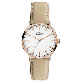 s.Oliver women's watch wristwatch leather SO-3333-LQ