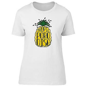Tropic Paradise Pineapple Tee Women's -Image by Shutterstock