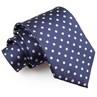 Cravate classique bleu marine à pois