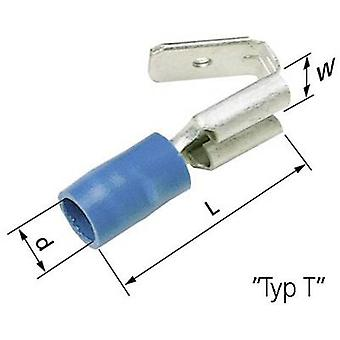 LAPP 63102020 Blade receptacle + branch joint Connector width: 6.3 mm Connector thickness: 0.8 mm 180 ° Partially insulated Blue 50 pc(s)