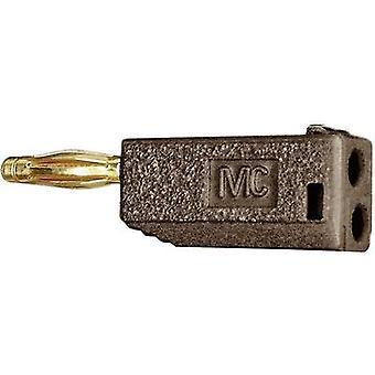Straight blade plug Plug, straight Pin diameter: 2 mm Brown Stäubli SLS205-A 1 pc(s)