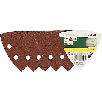 Bosch Accessories 2607019488 Delta grinder blade Hook-and-loop-backed, Punched Grit size 60 Width across corners 93 mm 25 pc(s)