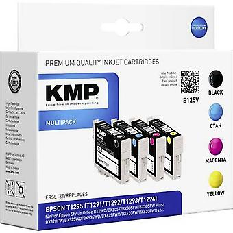 KMP Ink replaced Epson T1291, T1292, T1293, T1294, T1295 Compatible Set Black, Cyan, Magenta, Yellow E125V 1617,0050