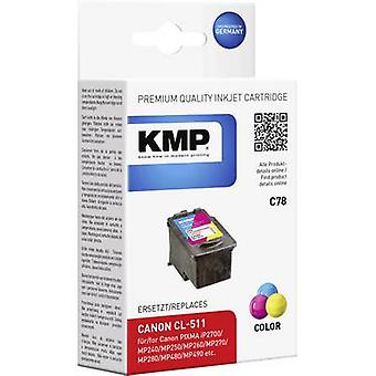 KMP Ink replaced Canon CL-511 Compatible Cyan, Ma