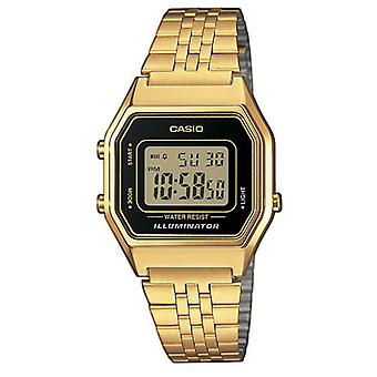 Casio LA680WEGA-1ER Ladies Digital Watches with Black Case & Clear Dial