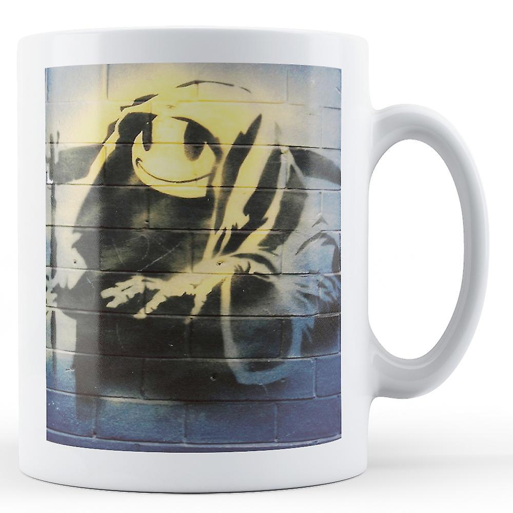Mug Reaper Bkm107 BanksySmiley Face Grim Imprimé LSMpGUqzV