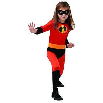 Bambini unisex bambino incredibile costume Disney PIXAR l'incredibile Carnevale dei Super eroi