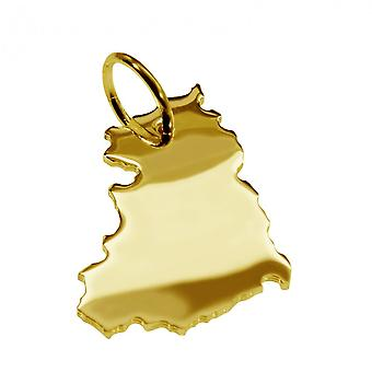 Trailer map pendants in gold yellow-gold in the form of GDR