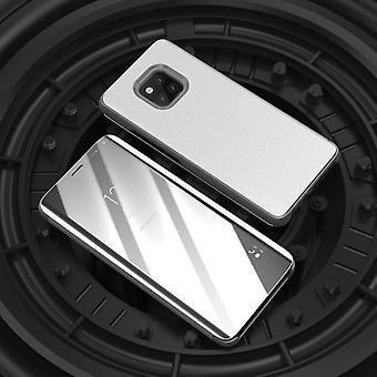 For Samsung Galaxy J6 plus J610F klart spejl spejl smart cover sølv beskyttende tilfælde dække pose taske sag ny sag Telefonvækning funktion