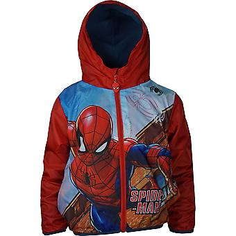 Boys RH1328 Marvel Spiderman Lightweight Hooded Jacket with Bag Size;3-8 Years