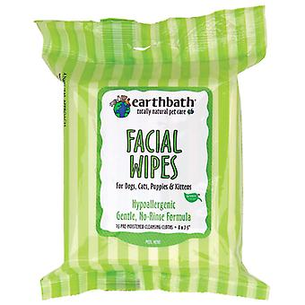 Earthbath Hypoallergenic Facial Wipes Pack 25