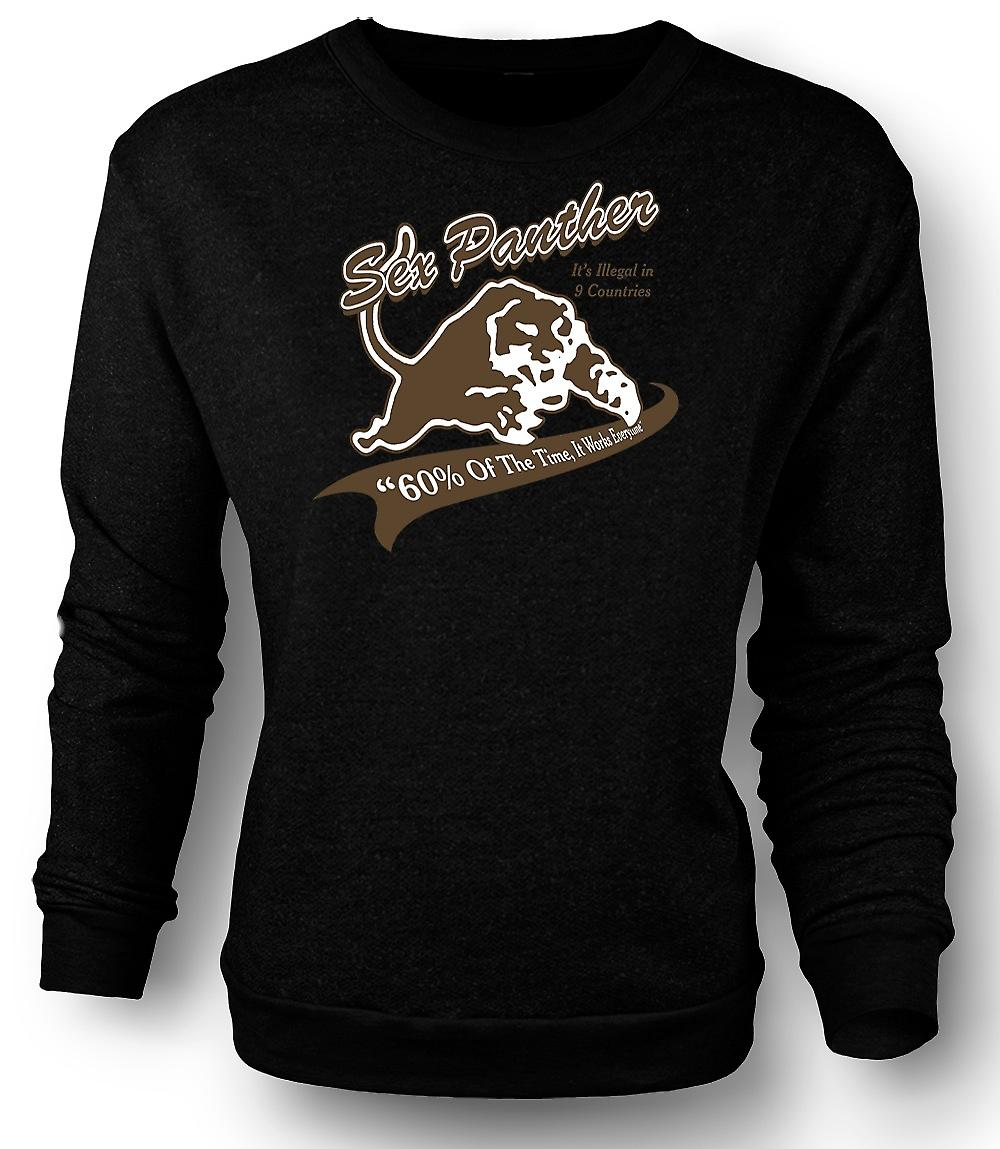 Mens-Sweatshirt-Anker-Mann - Sex Panther - lustig