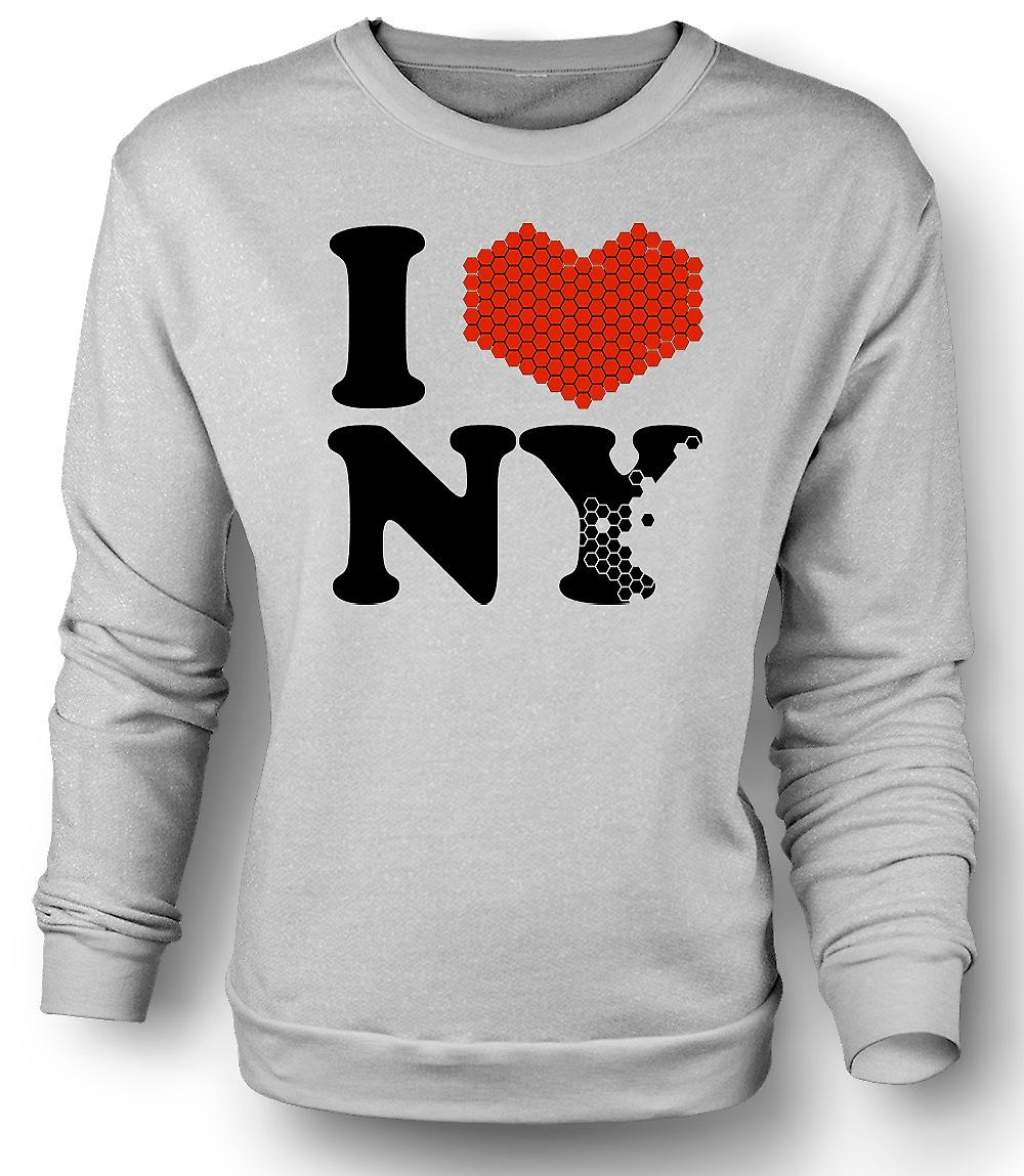 Mens Sweatshirt I Love Heart New York - NY