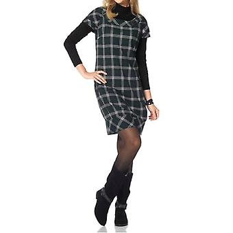 Dames de mode Cheer Plaid robe en cuir noir