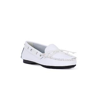 Frau saffiano white shoes