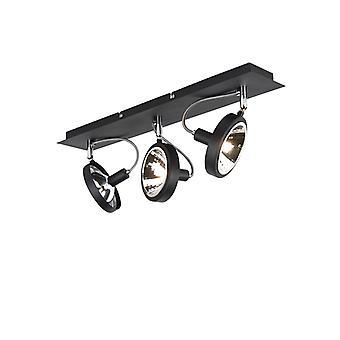 QAZQA proyector moderno 3 negro - Nox