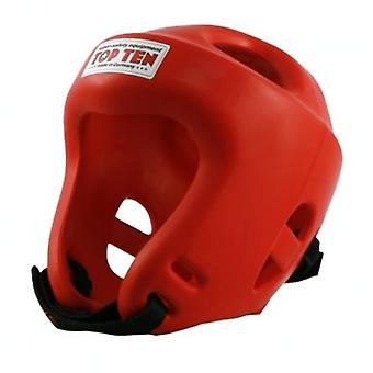 Top Ten Fight Head Guard Red