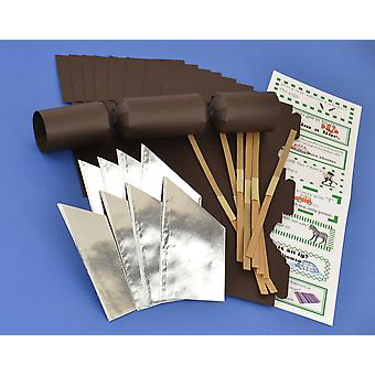 8 MINI Brown faire & remplir votre propre Cracker faire Craft Kit