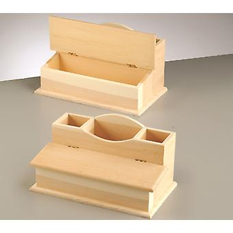 Wood Desk Tidy to Decorate   Wooden Shapes for Crafts
