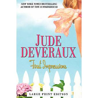First Impressions  Large Print by Deveraux & Jude
