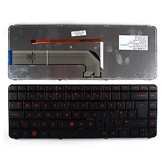 HP 670626-031 Glossy Black Frame Backlit Black UK Layout Replacement Laptop Keyboard