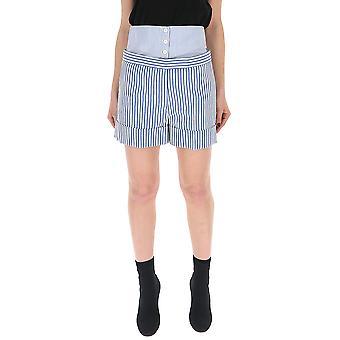 Thom Browne White/blue Wool Shorts