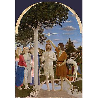 Gallery, London baptizes Christs, Piero della Francesca, 40x60cm with tray