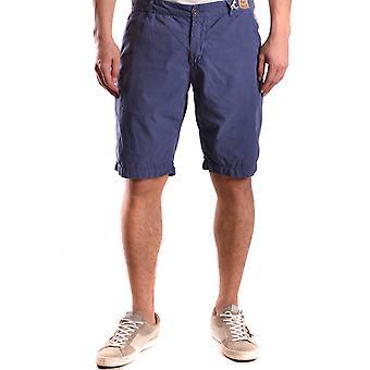 Franklin & Marshall blauw katoenen Shorts