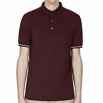 Camisa Polo manga corta de piqué de Fred Perry Mens Oxford M2584-472