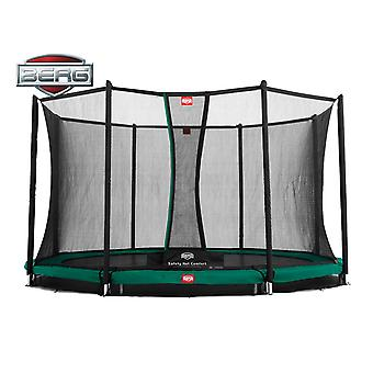 BERG InGround Champion 380 12.5ft Trampoline+ Safety Net Comfort Green