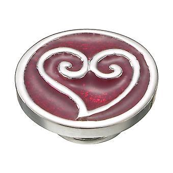 KAMELEON Scrolled Heart Red Sterling Silver JewelPop KJP353