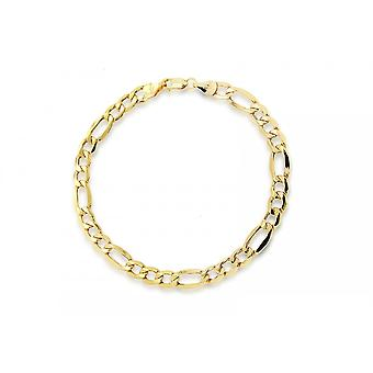 Eternity 9ct Gold Ladies 7 1/2'' Figaro Bracelet
