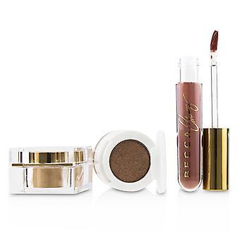 Becca BECCA x Chrissy Cravings Glow Kitchen Kit (1x Eyeshadow 1x Liquid Lipstick 1x Highlighter) - 3pcs