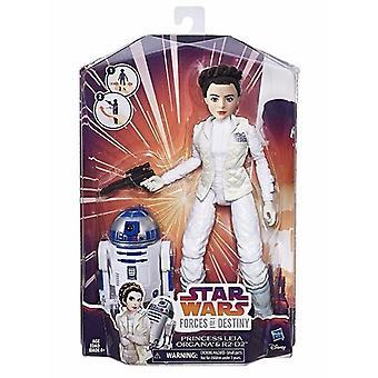 De krachten van de oorlogen van de ster van lot: Prinses Leia & R2D2, Doll 28 cm