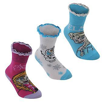 Disney Kids 3 Pack Crew Socks Junior