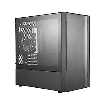 Cooler master masterbox nr400 case mini tower side window tempered glass black color