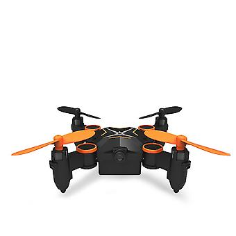 Folding four axis aerial photography mini drone aircraft toy - wifi real-time version (orange)