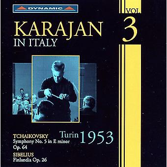 Tchaikovsky/Sibelius - Karajan in Italy, Vol. 3 -- Turin 1953 [CD] USA import