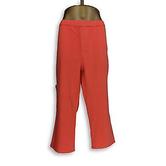 Denim & Co. Women's Pants Comfy Knit Denim Slim Leg Pink A301772